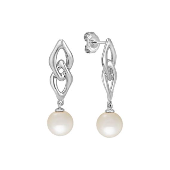 7mm Cultured Freshwater Pearl Earrings in Sterling Silver