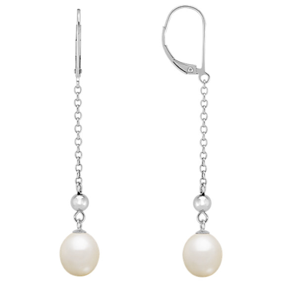 8.5mm Cultured Freshwater Pearl Earrings