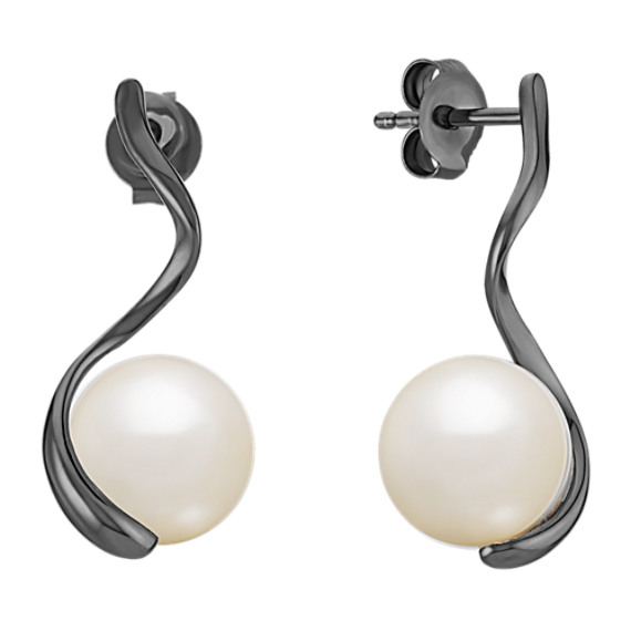 9mm Cultured Freshwater Pearl Earrings