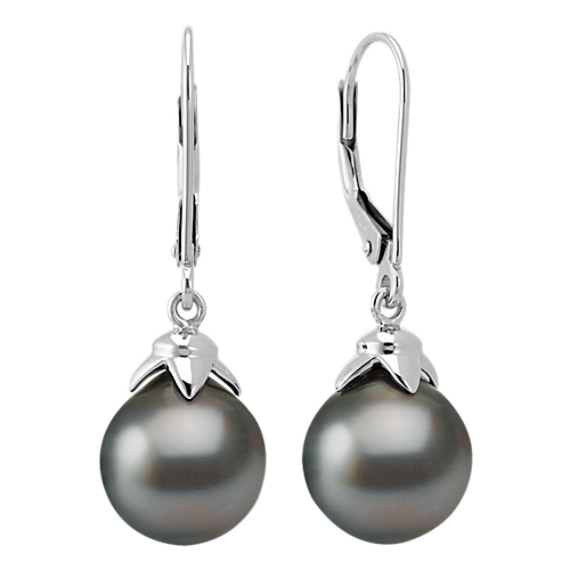 9mm Cultured Tahitian Pearl Fashion Earrings