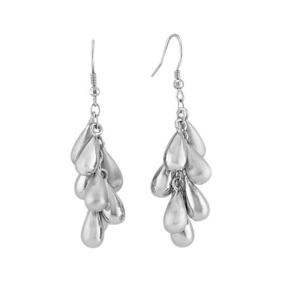Beaded Sterling Silver Earrings