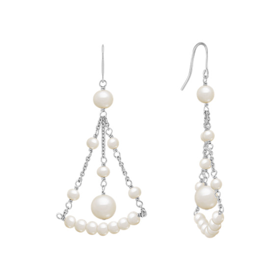 Chandelier Pearl Earrings in Sterling Silver