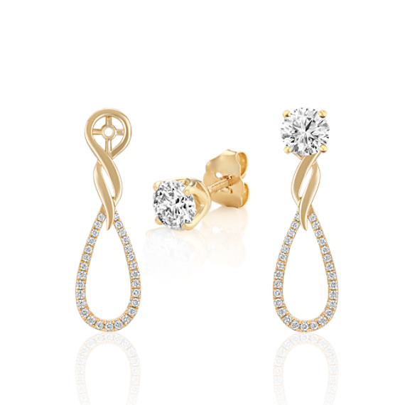 Diamond Dangle Earring Jackets
