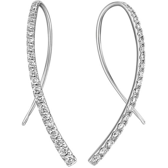 Gold Diamond Threader Earrings