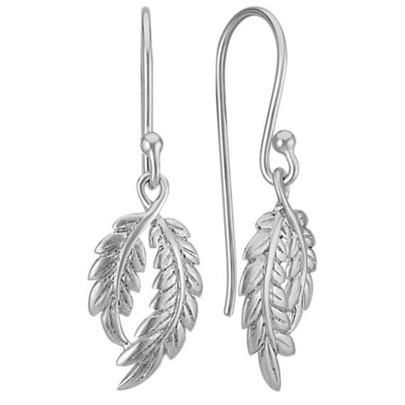 Double Leaf Earrings in Sterling Silver