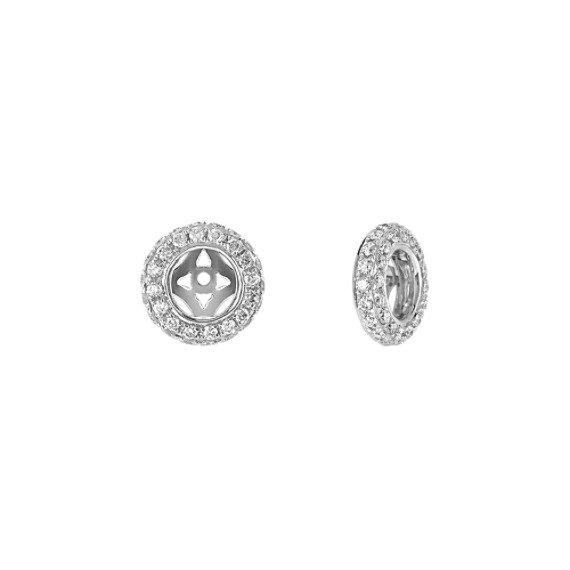 Double Sided Round Diamond Earring Jackets