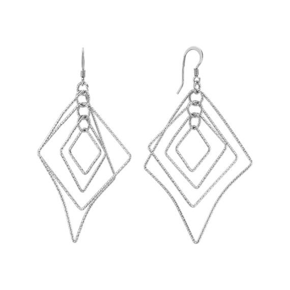 Geometric Sterling Silver Earrings
