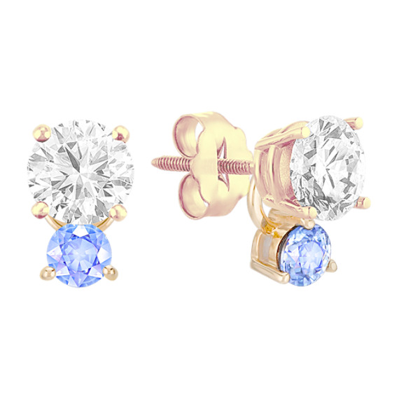 Ice Blue Sapphire Earring Jackets