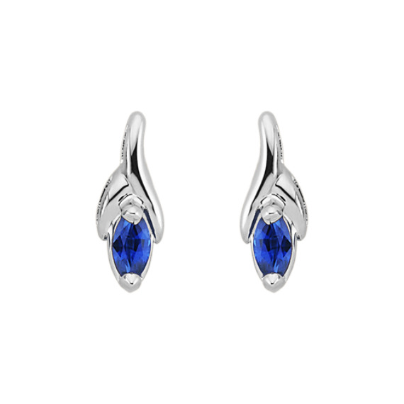 Marquise Sapphire Earrings