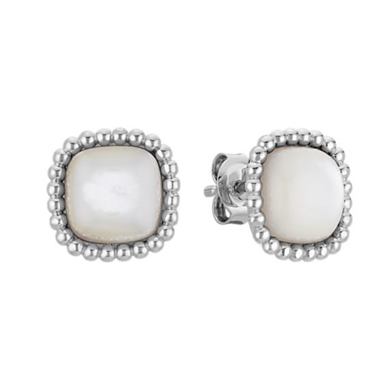 Mother of Pearl Earrings in Sterling Silver