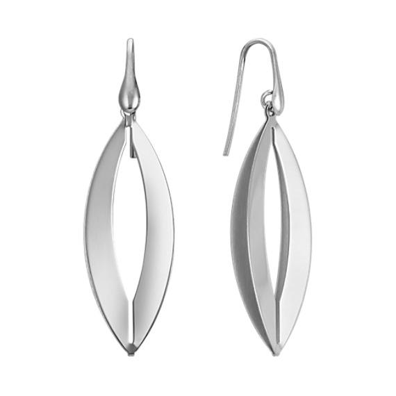 Open Cut Out Sterling Silver Earrings