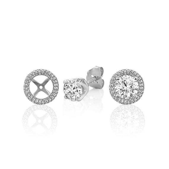 Pavé-Set Diamond Round Earring Jackets