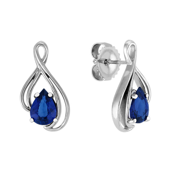 Pear-Shaped Sapphire Earrings