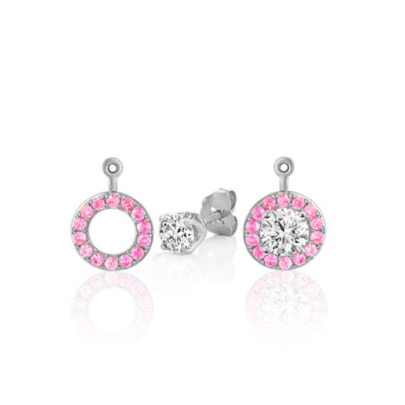 Pink Sapphire 2-in-1 Earring Jackets