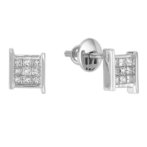 Princess Cut Diamond Earrings