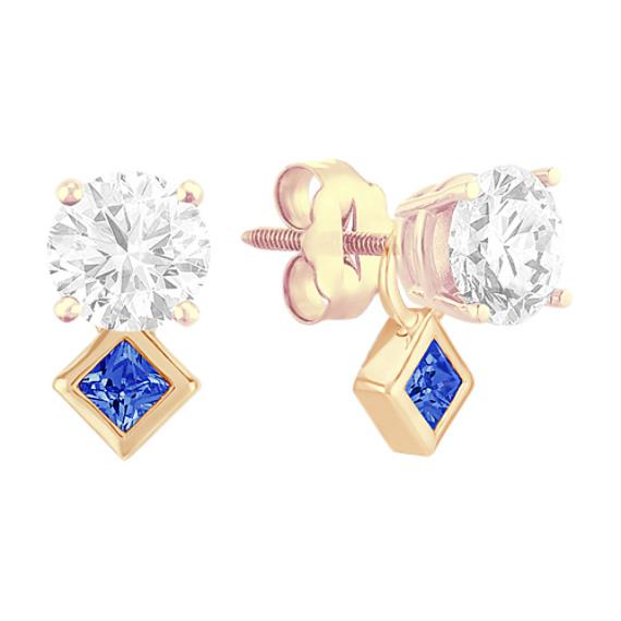 Princess Cut Sapphire Earring Jackets