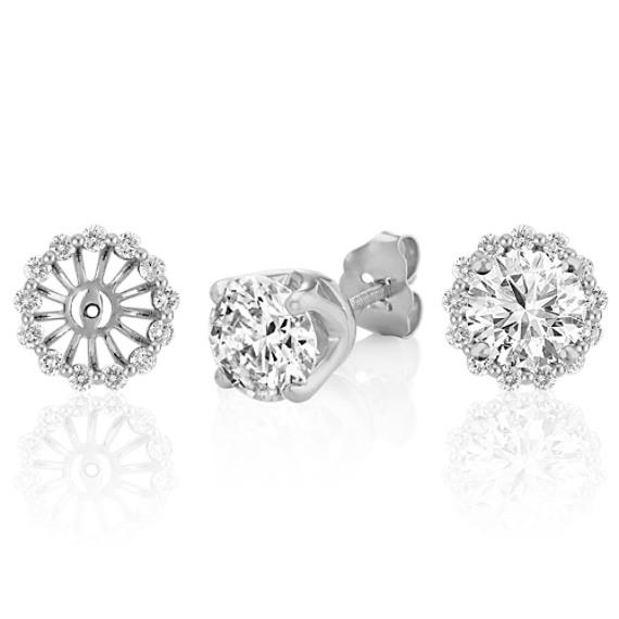 Round Diamond Basket Earring Jackets