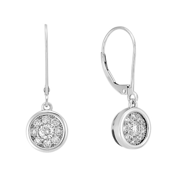 Round Diamond Cluster Earrings