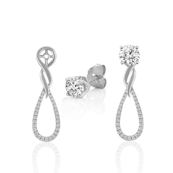 Round Diamond Dangle Earring Jackets