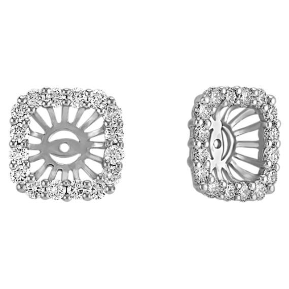 Round Diamond Square Designed Earring Jackets
