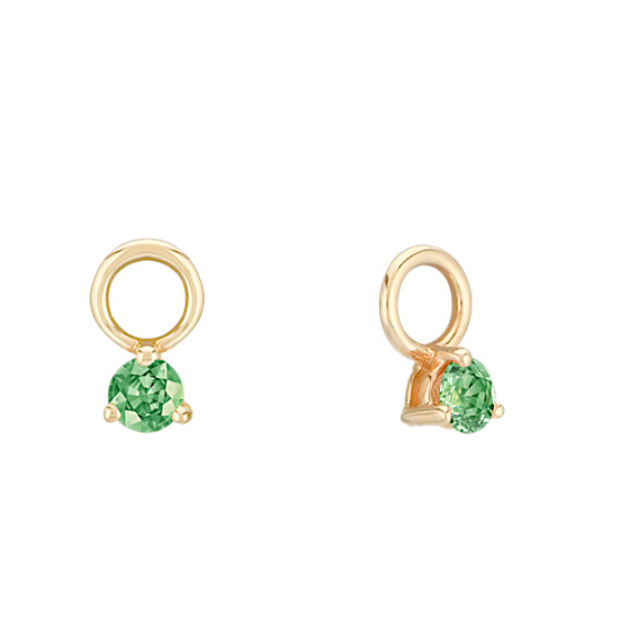Round Green Sapphire Earring Jackets