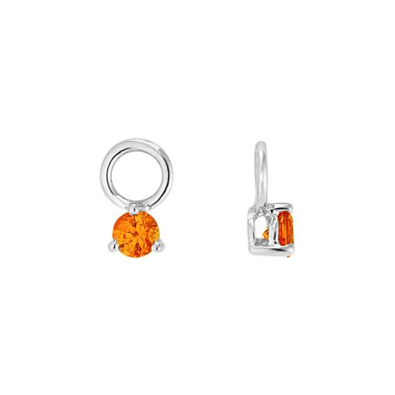 Round Orange Sapphire Earring Jackets