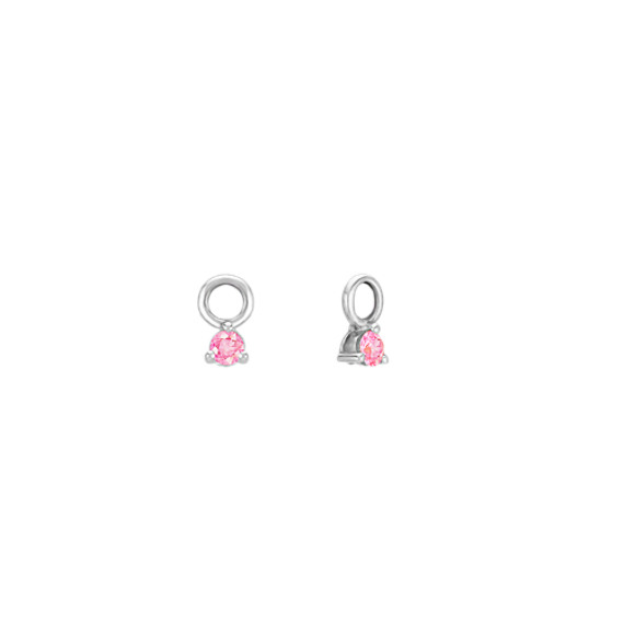 Round Pink Sapphire Earring Jackets