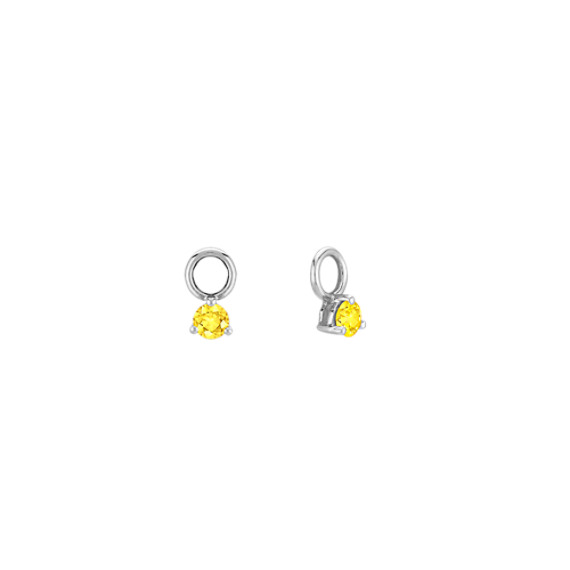 Round Yellow Sapphire Earring Jackets