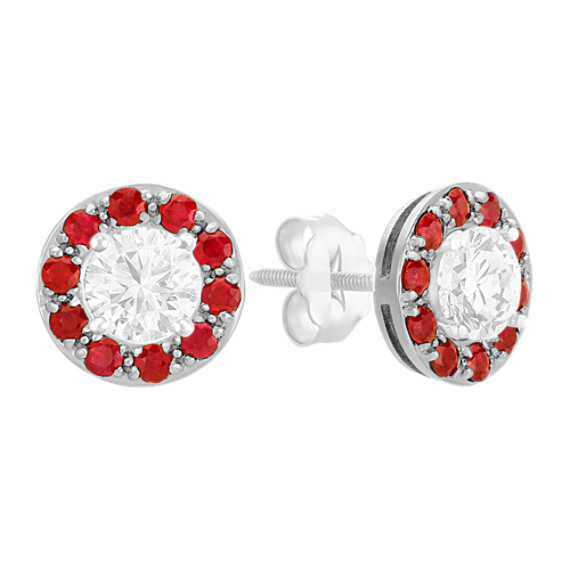 Ruby Circle Earring Jackets
