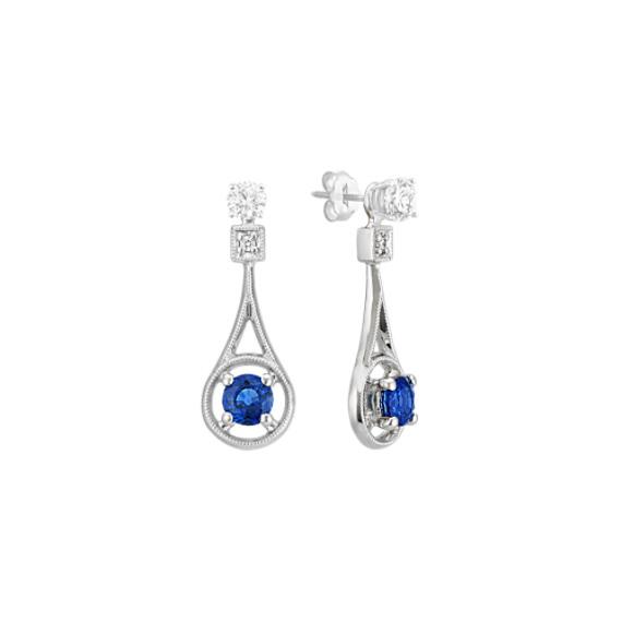 Sapphire and Diamond Dangle Earring Jackets