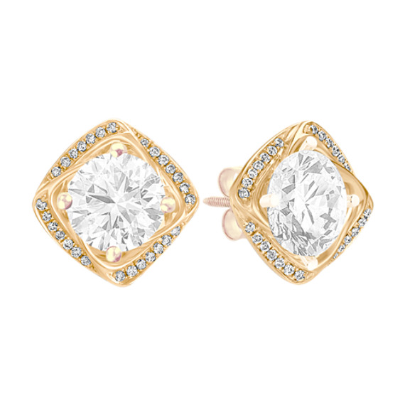 Square Shaped Diamond Earring Jackets