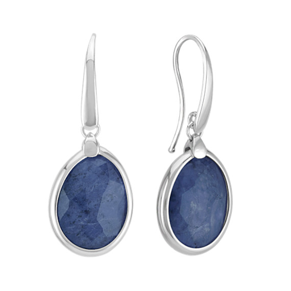 Sterling Silver and Sodalite Earrings