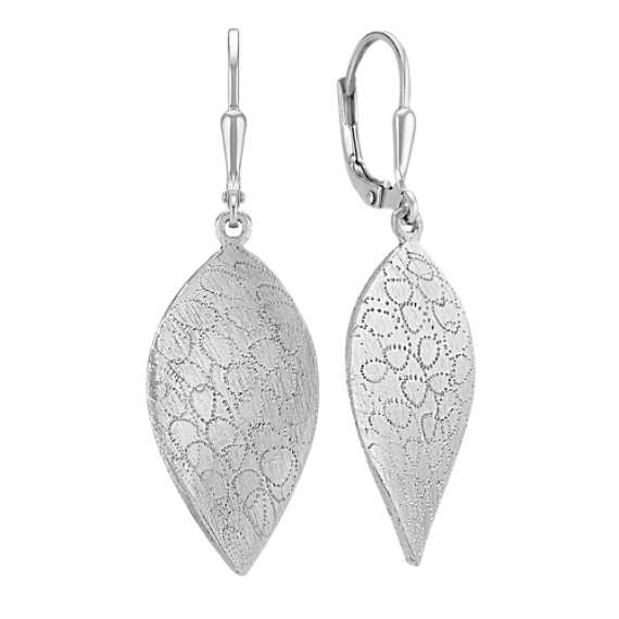 Sterling Silver Leaf Earrings with Leverbacks