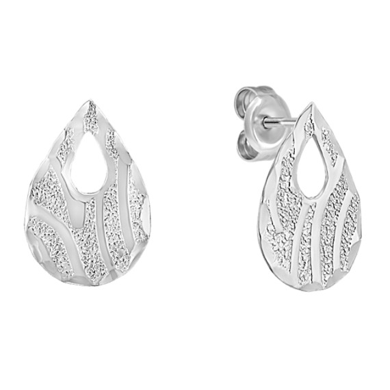 Sterling Silver Pear-Shape Earrings
