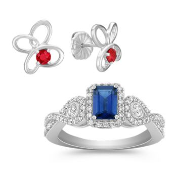 Ruby & Sapphire Jewelry