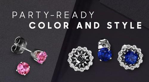 Party-Ready Stud Earrings