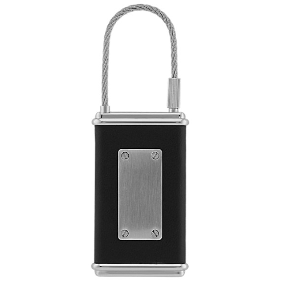 Stainless Steel and Leather Key Chain