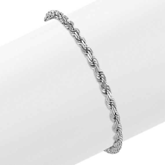 14k White Gold Rope Bracelet (8.5)
