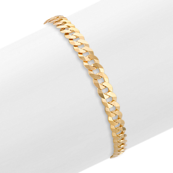 14k Yellow Gold Curb Bracelet (8.5)