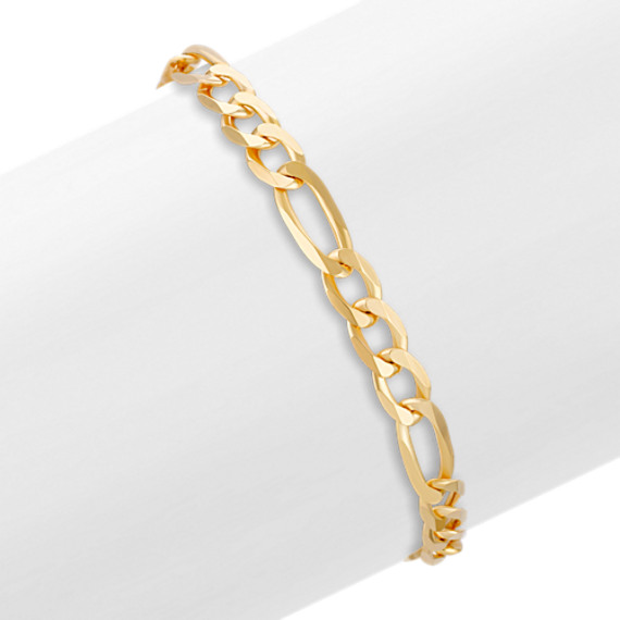 14k Yellow Gold Figaro Bracelet (8.5)