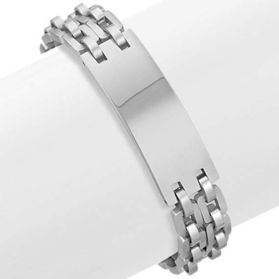 "Polished Engravable Stainless Steel Bracelet (8.5"")"