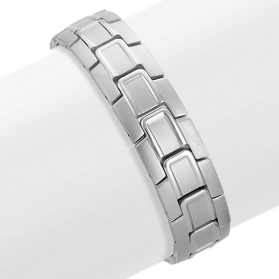 "Polished Stainless Steel Bracelet (8.5"")"