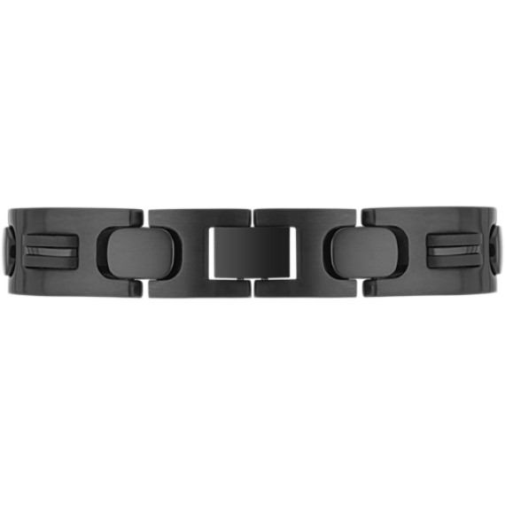 Stainless Steel Bracelet with Black Ionic Plating (8)