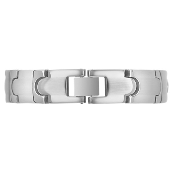 "Stainless Steel Polished Bracelet (8"")"