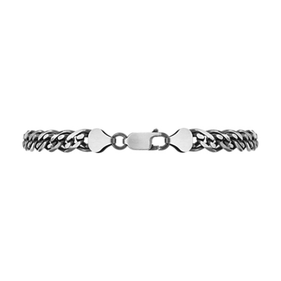 Sterling Silver Bracelet with Black Ruthenium (8.5)