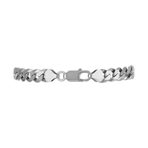 """Sterling Silver Curb Bracelet (8.5"""")"""