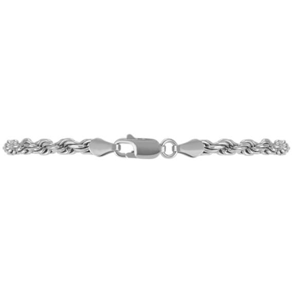 Sterling Silver Rope Bracelet (8.5)