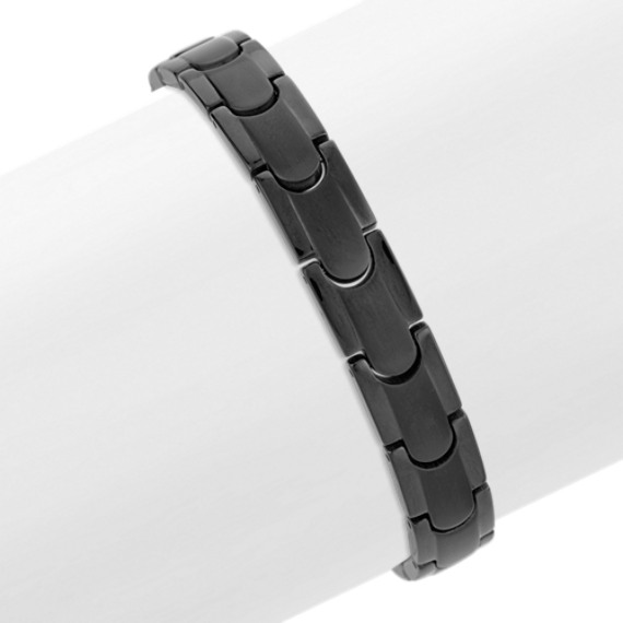 Titanium Bracelet with Black Ionic Plating (8.25)