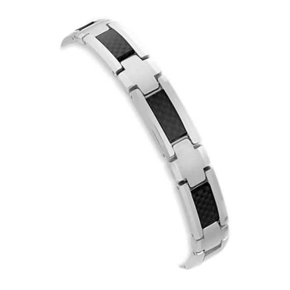 Tungsten and Carbon Fiber Bracelet (8.5)