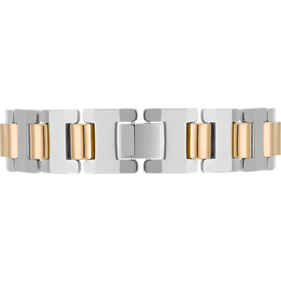 Tungsten Bracelet with Gold Ionic Plating (8.5)